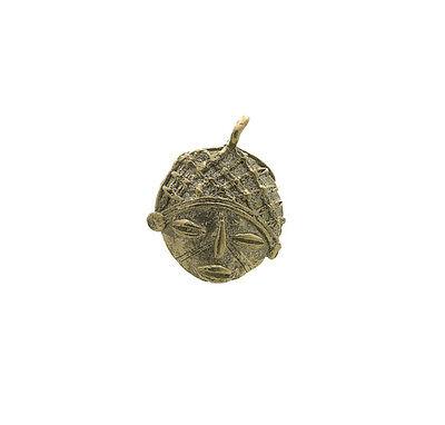 Pendant or Door Keys Mask African Ashanti Tribale Ethnic Brass 6054