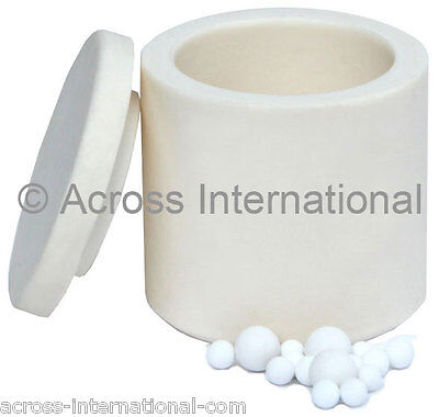 100ml Alumina Ceramic Lab Planetary Ball Mill Grinding Jar w/ Ball Media for sale  Livingston