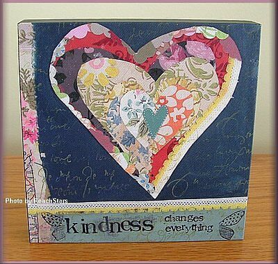 KINDNESS CHANGES EVERYTHING WALL ART BY KELLY RAE ROBERTS 6 IN. FREE U.S. SHIP
