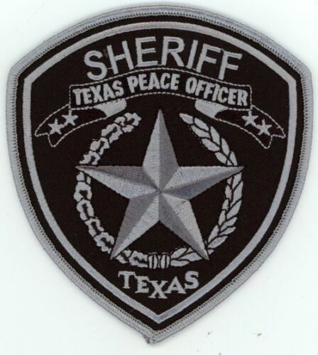 TEXAS TX TEXAS PEACE OFFICER SHERIFF SUBDUED NEW PATCH POLICE
