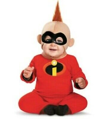 The Incredibles Baby Jack (Disney PIXAR The Incredibles Jack-Jack Baby Infant Boy Costume Newborn 0M-6M)