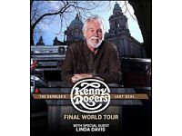 Two tickets with amazing seats for Kenny Rogers