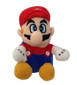 TM06-SUPER-MARIO-BROS-Peluche-Mario-Rosso-circa-18-cm-GRANDE-W0