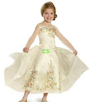 Cinderella Halloween Costume 3t (NWT $70-Girl Disney Cinderella Gold Dress & Tiara Deluxe Halloween)