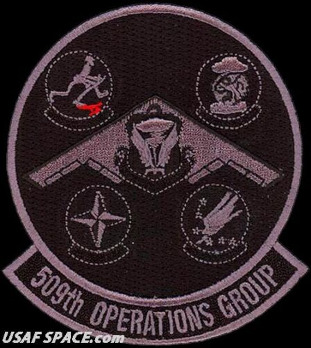 USAF 509th OPERATIONS GROUP - B-2 - GAGGLE - Whiteman AFB, MO - ORIGINAL PATCH
