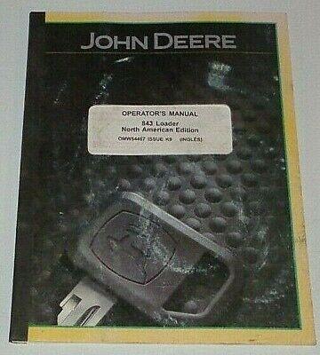 John Deere 843 Loader Operators Manual Fits 8100 To 8345r Tractors 8410 8225r