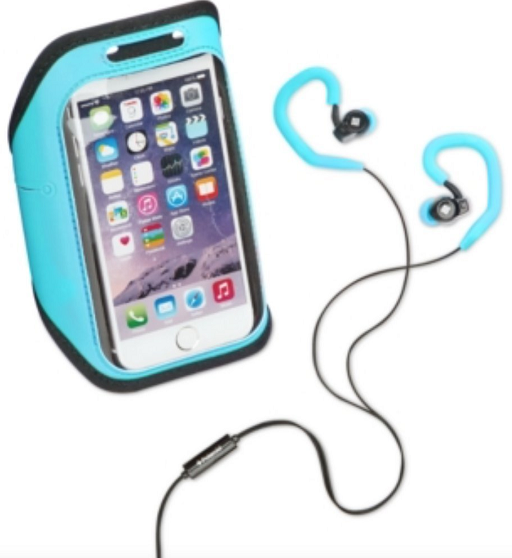 NEW Polaroid Blue Headphone Microphone Earbuds Fitness Cell