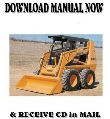 Case 1845c Skid Steer Loader Shop Service Repair Manual On Cd