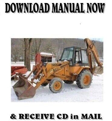 Case Construction 580c Loader Backhoe Shop Service Repair Manual On Cd