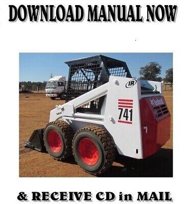Bobcat 741 742 743 Skid Steer Loader Factory Service Repair Manual On Cd