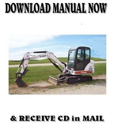 Bobcat 331 Mini Excavator Factory Shop Service Repair Manual On Cd