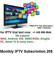 Mothly IPTV Subscription 3000+ Channels