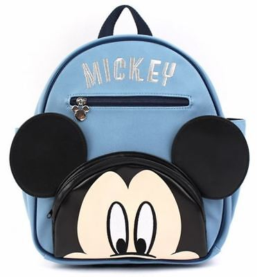 Made in Korea Genuine Bag Disney Mickey Mouse Backpack Red Pink Navy color