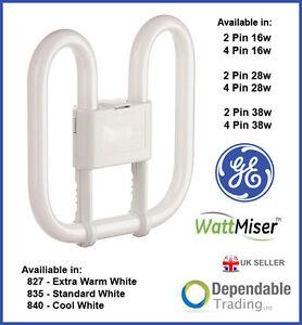Ge 2d Wattmiser Energy Saving Fluorescent Tube Lamp Bulb