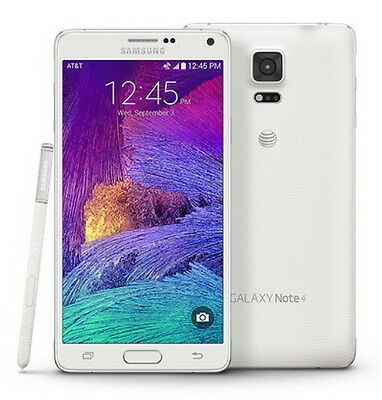 NEW Samsung Galaxy Note 4 SM-N910A UNLOCKED AT&T 4G LTE 32GB Smartphone WHITE