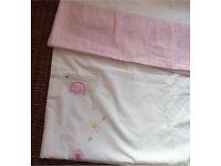 Beautiful girls toddler junior cotton duvet cover set