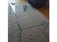 Glass tables online coffee table, 1 year old perfect condition