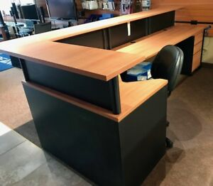 Reception Desk, Chair & 3 Drawer Filing Cabinet