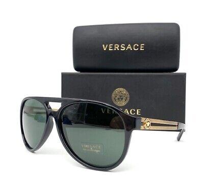 VERSACE VE4312 GB1/71 Black Gold / Gray 60mm  Sunglasses