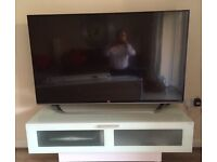 Modern TV Unit toughened glass and white wood