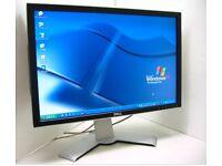 "2 no Screen Dell UltraSharp 2407WFPB 24-inch LCD Monitor 24"""