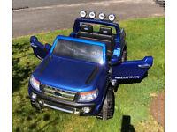 12v Ford Ranger, battery operated, in cobalt blue