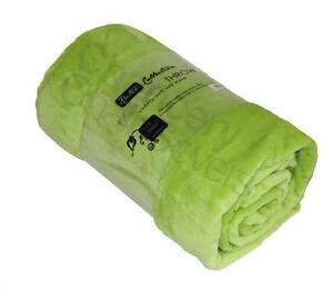 green lime faux fur mink throw luxury rich soft sofa bed runner fleece blanket ebay. Black Bedroom Furniture Sets. Home Design Ideas