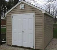 8' x 12' Double door Sheds Delivery Available