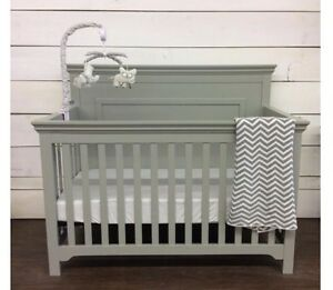 Grey convertible crib white or gray - new -