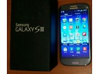 Samsung galaxy s3 i9300 16gb with box on 02 network phone in very good condition