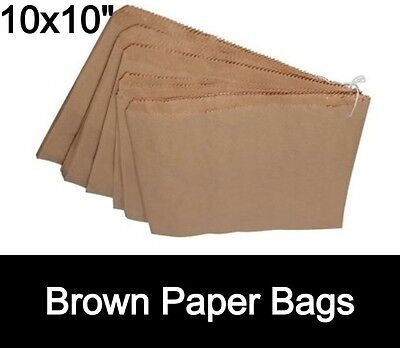 Brown Kraft Paper Bags - Strung 10x10