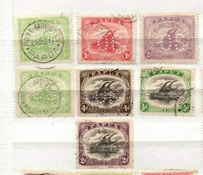 7 very nice Papua issues with some OS Punctures