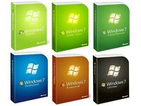 WINDOWS 7 ALL EDITIONS CD - Starter | Basic | Home Premium | Professional | Enterprise | Ultimate