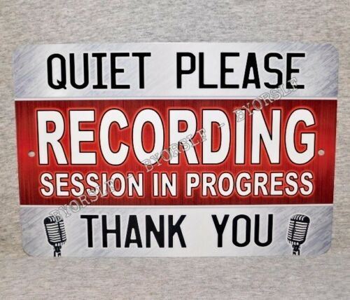Metal Sign RECORDING STUDIO sound mixing audio engineer music producer Quiet