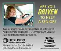Volunteer to Drive Seniors to Appointments and for Groceries