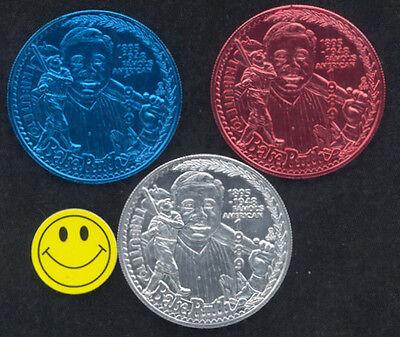 1989 BABE RUTH Tribute New York Yankee Baseball Doubloons Coins Red+White+Blue](New York Yankee Baseball)
