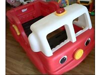 Step 2 fire engine toddler bed - details in photos