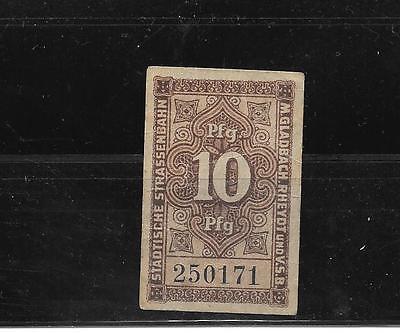 GERMANY NICHT BRECHEN OLD 10 PFENNIG VF CIRC  BANKNOTE BILL NOTE PAPER MONEY