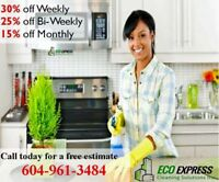Apartment Cleaning Services book today at 604-961-3484