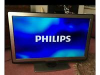 "40 "" Philips smart led lcd tv full hd, USB, WiFi, with built-in freeview."