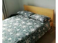 Malm king size bed and mattress