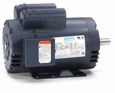 5 HP 3450 RPM Air Compressor Electric Motor 230V Leeson #120554 *FREE SHIPPING*