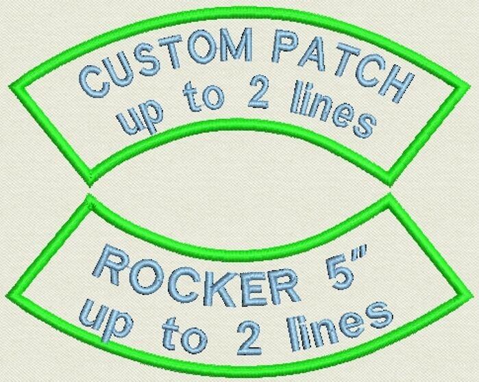 """Set of 2 Shoulder Rocker Name Tag, Biker Patch, badge 5"""" x 2"""" up to 2 lines"""