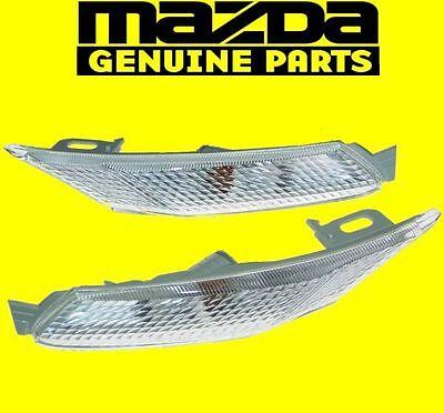 MAZDA RX8 RX-8 2003-2008 SE3P 13B FRONT CLEAR SIDE MARKER LIGHT LENSES SET OEM
