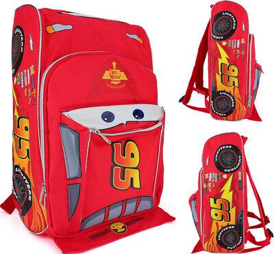 """Disney Cars McQueen 10""""/12""""/16"""" School Backpack 3D Shape Boy"""