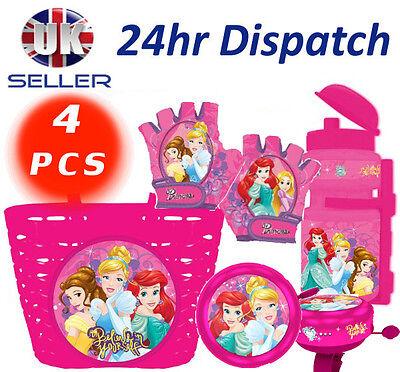 rad 4 Stk. Zubehörteil Korb Handschuhe Bell Flasche Mädchen (Disney Princess Belle Handschuhe)