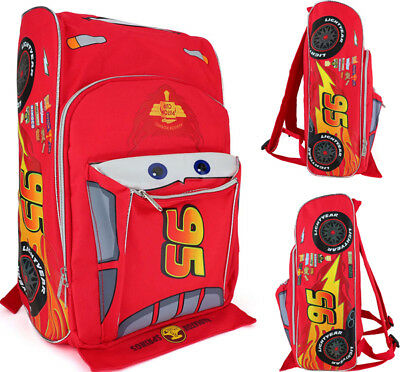 "Disney Cars McQueen Toddler School Backpack 3D Shape 12"" Boys Book Bag"