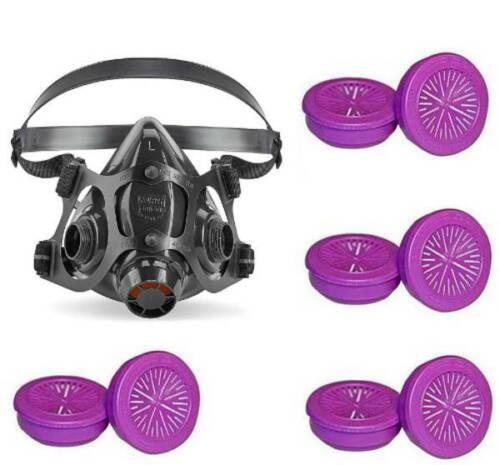 North 7700 Series 770030L Half Mask Reusable Respirator & 4 Pair 7580 - Large