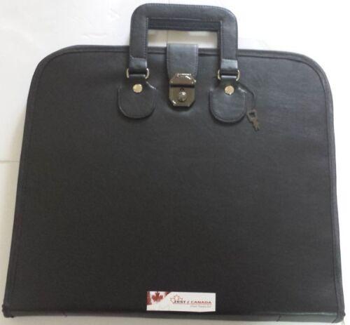 Masonic Regalia Smart File Case For MM/WM Apron with Soft Handle in Black