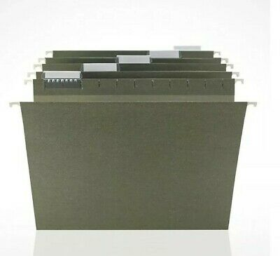 Staples Hanging File Folders 5 Tab Legal Size Standard Green 50 Pack